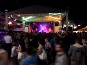 Die Gemeinschaftsbühne von radio x & VirusMusik auf dem Museumsuferfest 2015