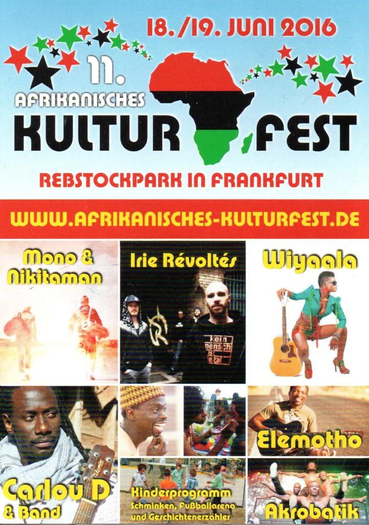 11. Afrikanisches Kulturfest 2016, Rebstock