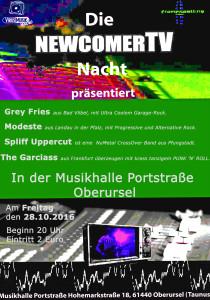 Die sechste NewcomerTV Nacht in der Musikhalle Portstrasse, Oberursel! @ Musikhalle Portstr. | Oberursel (Taunus) | Hessen | Deutschland