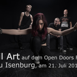 April Art auf dem NEWCOMER BANDCONTEST beim Open Doors Festival 2017 in Neu-Isenburg.