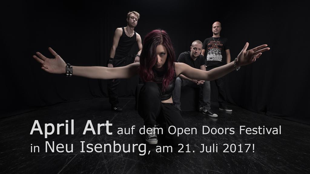 April Art auf dem NEWCOMER BANDCONTEST beim Open Doors Festival 2017 in Neu-Isenburg.