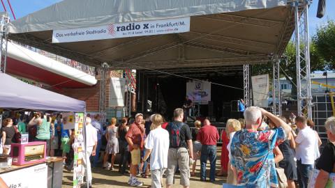 Das Programm der radio x Bühne, auf dem Museumsuferfest 2017.