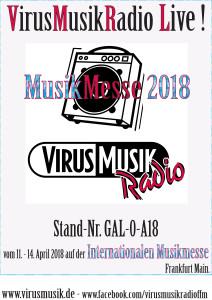 VirusMusikRadio auf der Internationalen Musikmesse 2018.