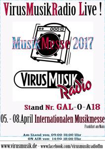 VirusMusikRadio auf der Internationalen Musikmesse 2017.