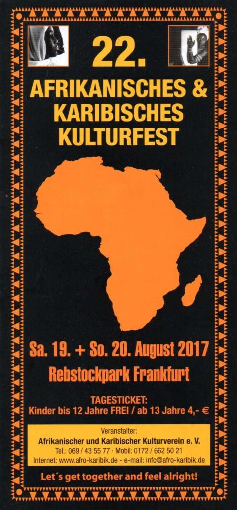 22. Afrika ... - Flyer Front
