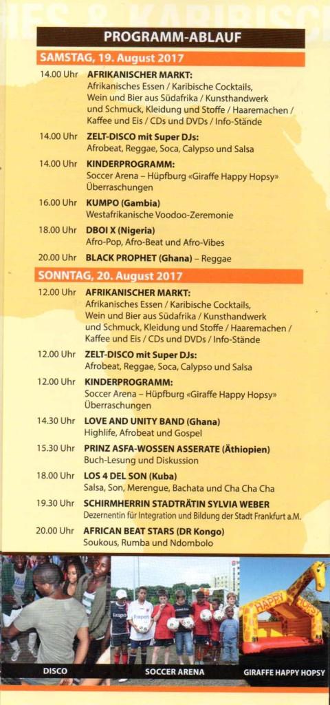 22. Afrika ... - Programm