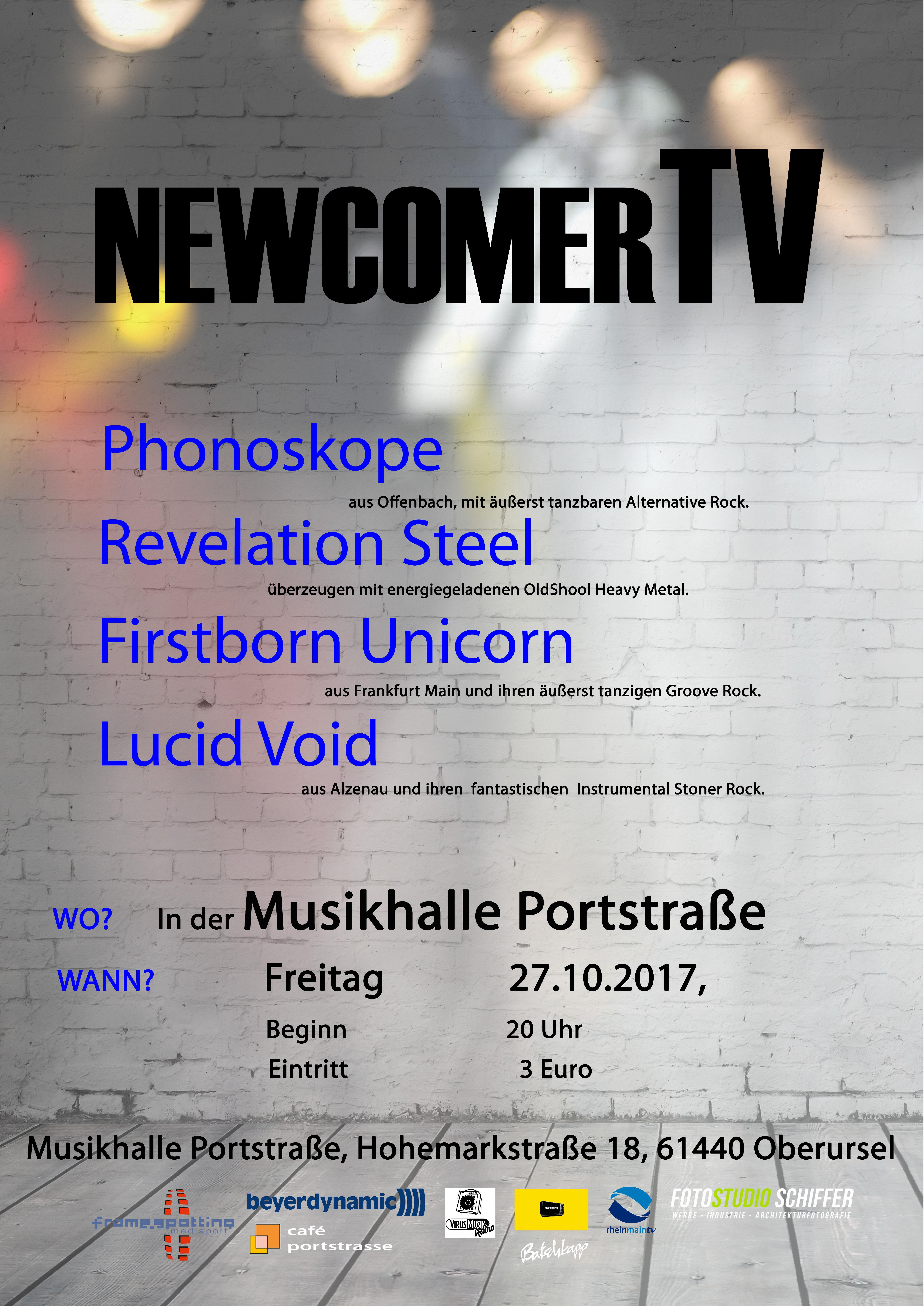 Die sechste NewcomerTV Nacht in der Musikhalle Portstrasse