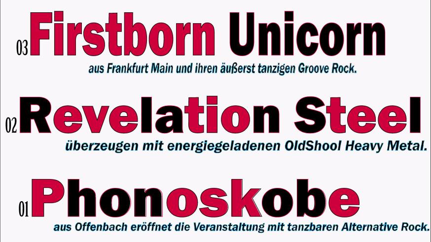 6. NewcomerTV-Nacht live in Concert am Freitag, 27.10. in der Musikhalle Portstraße in Oberursel