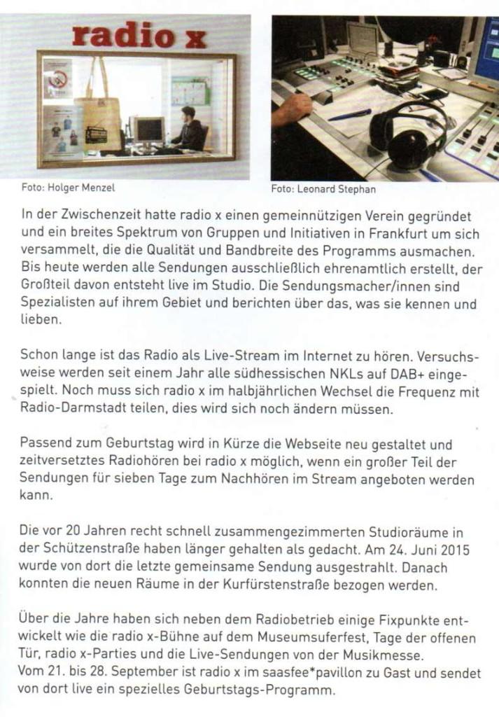 20 Jahre radio x - 3