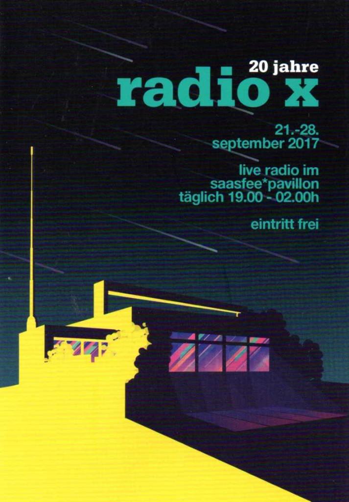 20 Jahre radio x - Handflyer