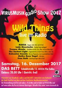 - wild things live im radio - Die VirusMusikRadio Show 2017