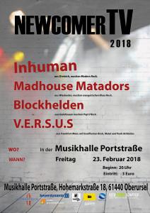 Die erste NewcomerTV Nacht 2018, in der Musikhalle Portstrasse - Oberursel (Taunus).