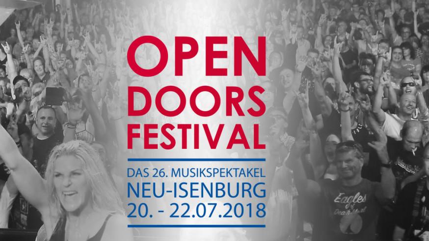 Gesucht werden Bands für den Bandwettbewerb Open Door Festival 2018
