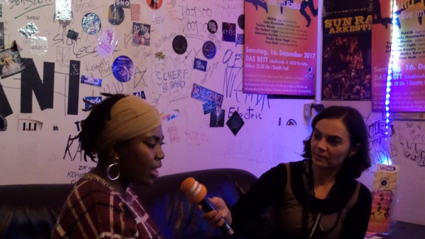 Die VirusMusikRadioShow 2017 online in der Mediathek Hessen mit Yvonne Mwale, Makia, Maike Rosa Vogel, Kokonino Kounty, Lady Moustache, Frau Ruth, The Earhart Light