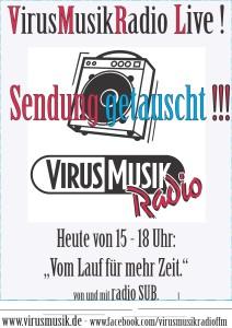 A - Vom Lauf für mehr Zeit am 09. September, also heute,  sendet radioSUB von 15 bis 18 Uhr eine Live-Sondersendung.