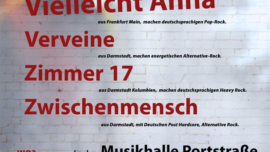 Die 2. NewcomerTV Nacht in der Musikhalle Portstrasse (Oberursel / Taunus). Am 23. März!