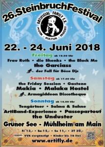 Steinbruchfestival 2018 - Flyer - kleiner