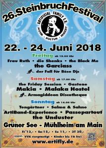 Steinbruchfestival 2018 - Flyer