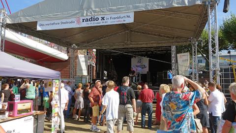 Das Programm der radio x Bühne beim Museumsuferfest 2018