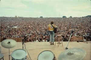 Auf der Bühne in Woodstock