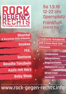 Rock gegen - Flyer m. Programm