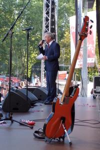 OB Peter Feldmann bei Rock gegen Rechts am 01