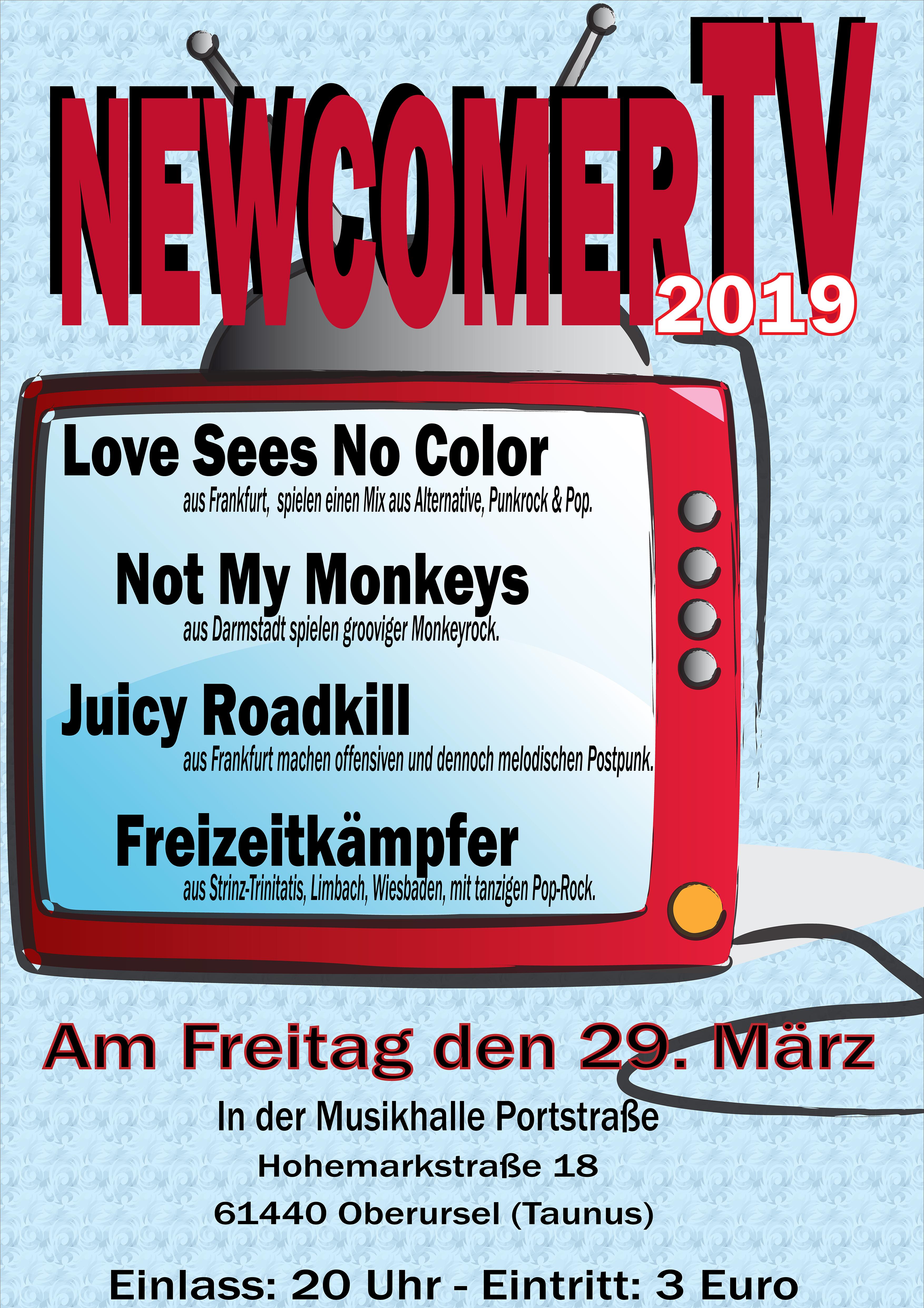 Die erste NewcomerTV 2019 Nacht in der Musikhalle Portstrasse.