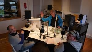 SUD im Studio 1 : David, Ben, Thorsten - es fehlt Frank (der Fotoman) v.l.n.r.