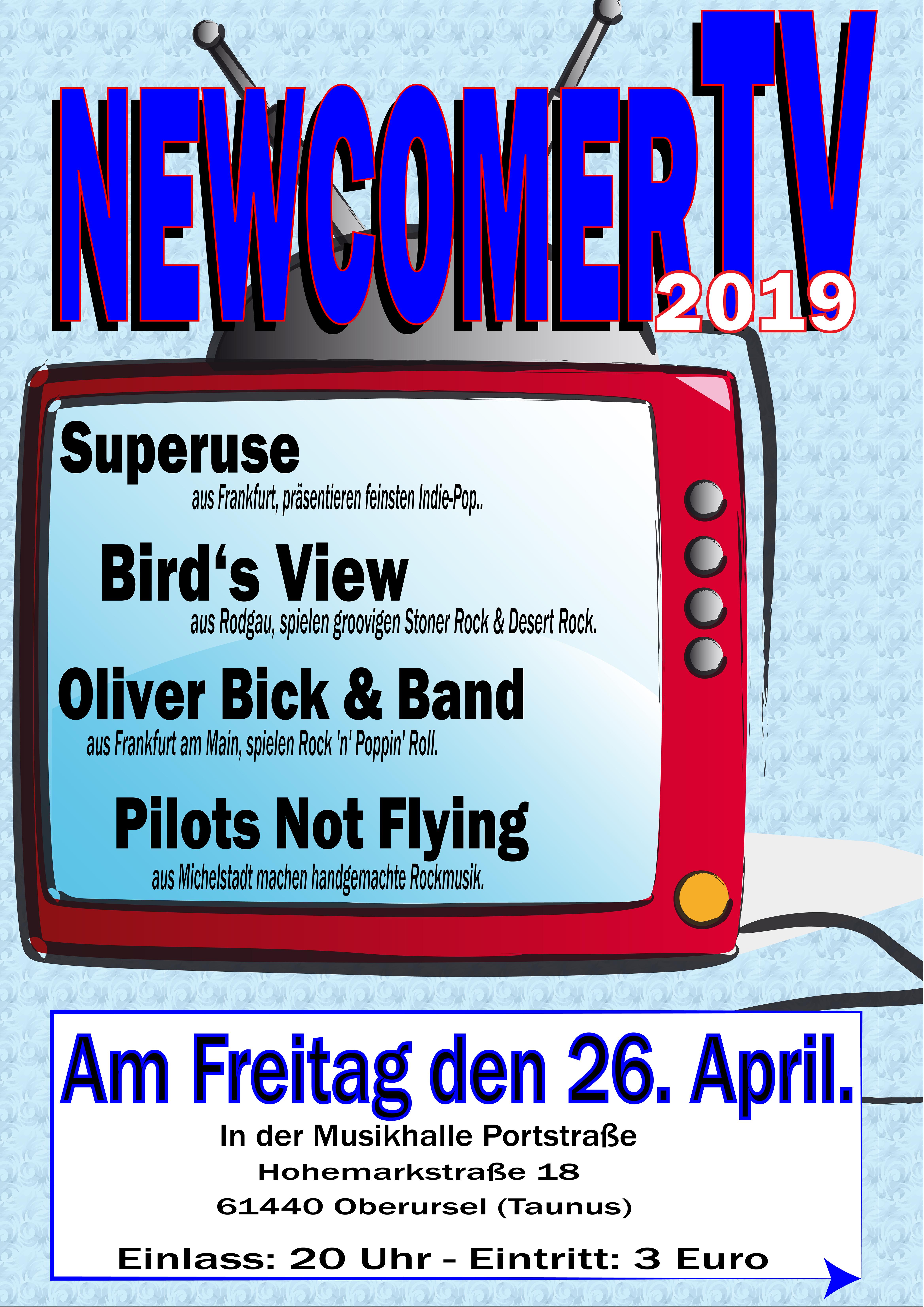 Die zweite NewcomerTV Nacht 2019, in der Musikhalle Portstrasse.