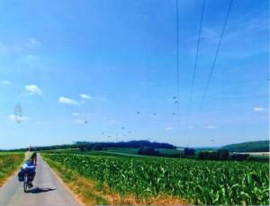 Fahr Rad - der Autor bei der Anreise zum Burg Herzberg Festival