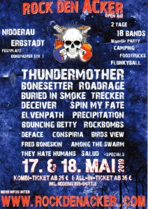 Rock den Acker 2019 - Flyer
