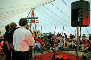 Das Programm im Beduinenzelt, auf der Sommerwerft 2019.