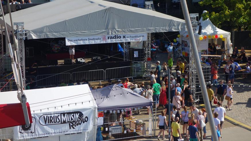 Das Programm der radio x Bühne beim Museumsuferfest 2019.