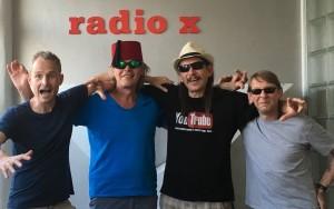 Aftershow-Partypeople: Thomas, Ben, Morris, Dennis (v.l.n.r.)